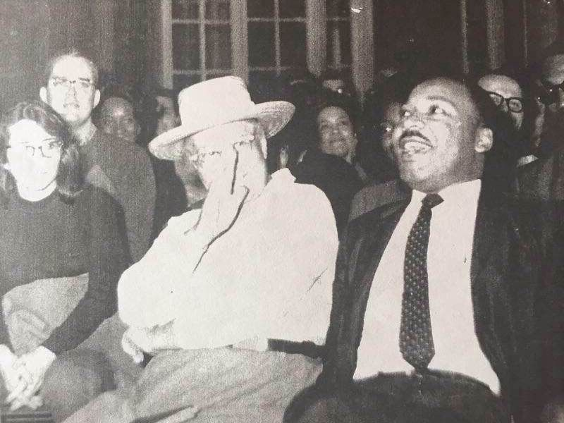 """The Rev. Jessie """"Ma"""" Houston with the Rev. Martin Luther King Jr."""
