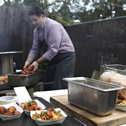 Chef Thomas Boemer's fried chicken, hush puppies and whole smoked hog had the whole crowd swooning