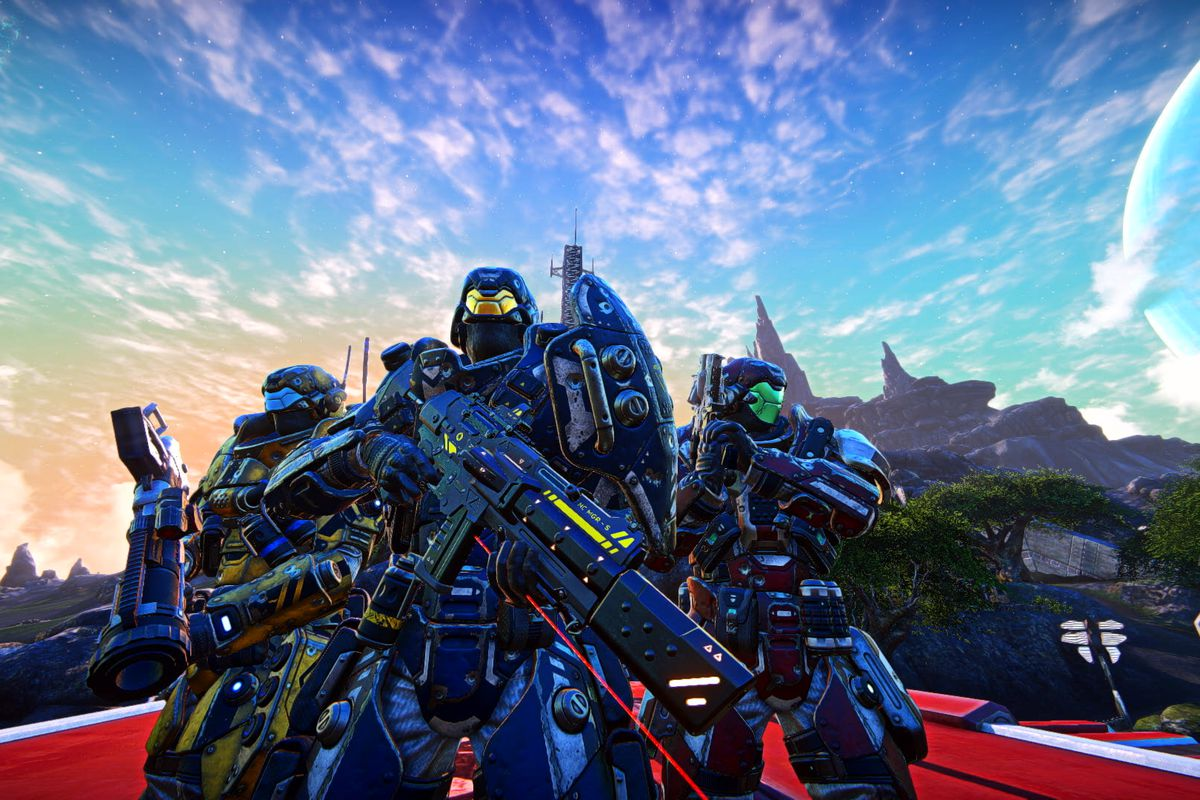 PlanetSide Arena - three soldiers
