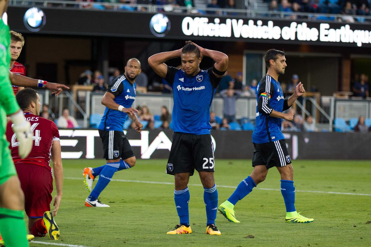 Quincy Amarikwa is not happy with the Quakes first lose of the season at Avaya Stadium