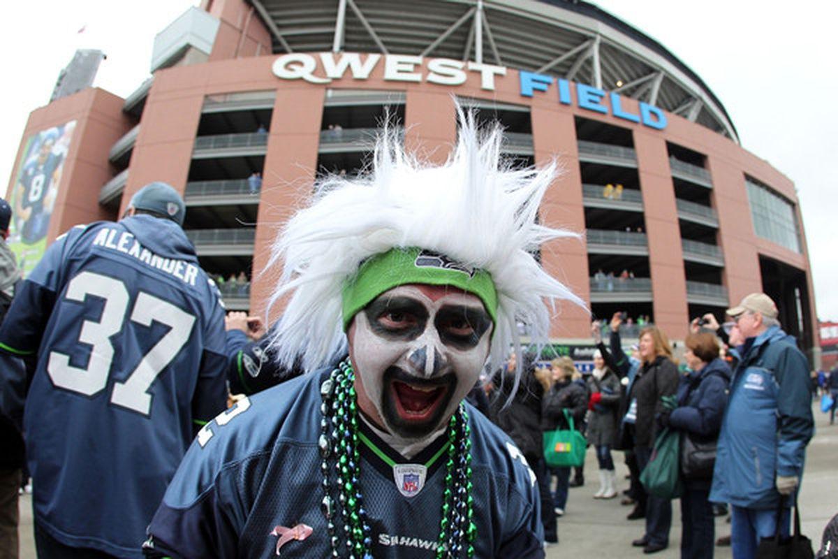 This Seahawks fan is intense.