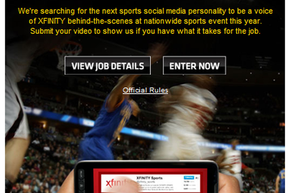 XFINITY Sports Social Media Contest