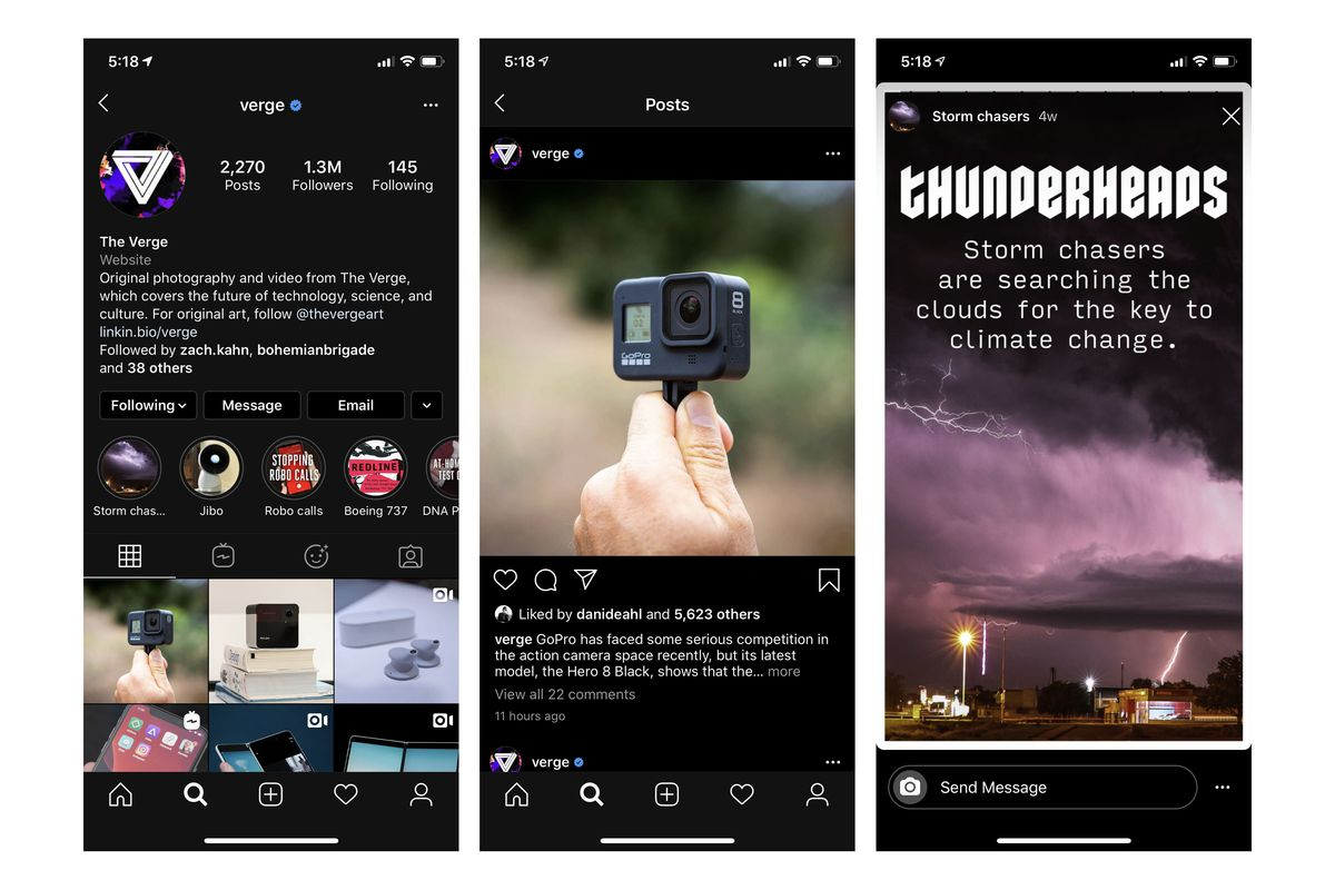 Image result for Instagram Update Dark Mode on iOS 13