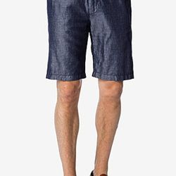 """Why wear regular jorts when you could wear these metallic jorts? $138, <a href=""""http://www.7forallmankind.com/The_Chino_Short_in_Indigo/pd/c/1072/np/1072/p/7774.html"""">7 for all Mankind</a>"""