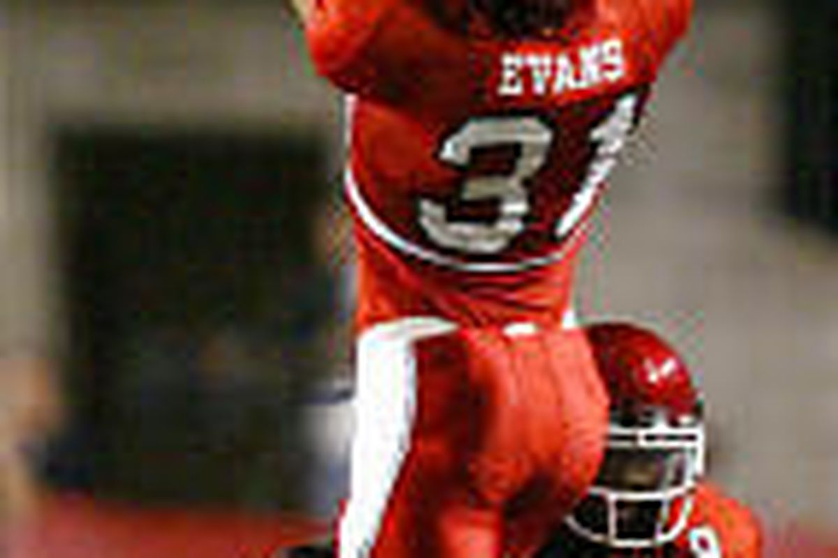 Utah's Casey Evans, shown here vs. Arizona, was named MWC player of the week for his role in Utah's win over Air Force.