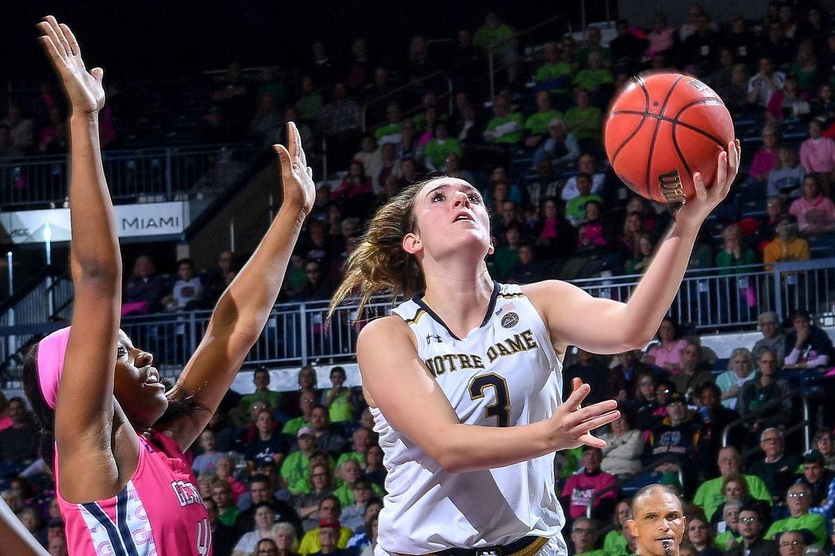 NCAA Womens Basketball: Georgia Tech at Notre Dame