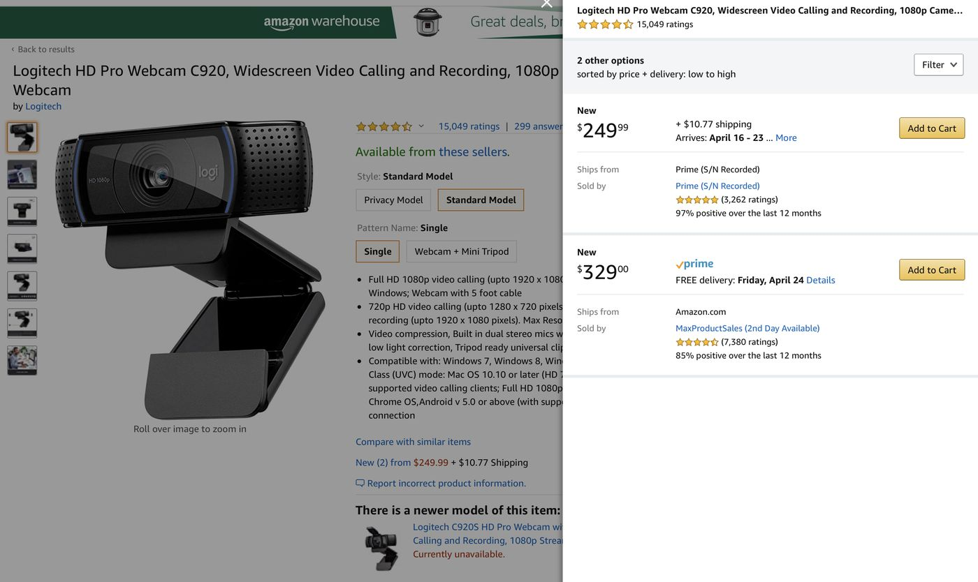 Webcams Have Become Impossible To Find And Prices Are