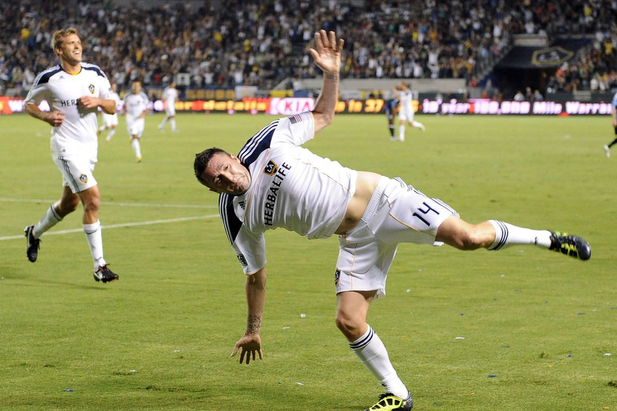 No photos from tonight's match for me to use, so here' Robbie Keane pulling a silly face.
