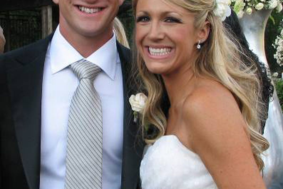"""A.J. Foyt IV and his wife, Casey Irsay. Photo: <a href=""""http://www.foytracing.com/aj4/photos/wed/Anthony&CaseyFoyt.jpg"""">www.foytracing.com</a>"""