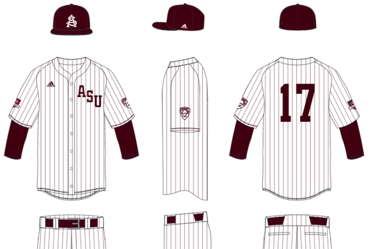 size 40 f65cd 77057 ASU Baseball: Sun Devils unveil 1965 throwback uniforms in ...