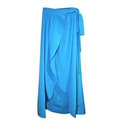 """<b>Cynthia Rowley</b> Long Wrap Skirt, <a href=""""http://www.cynthiarowley.com/bottoms/long-wrap-skirt.html?color=Turquoise&size=XS"""">$425</a>"""