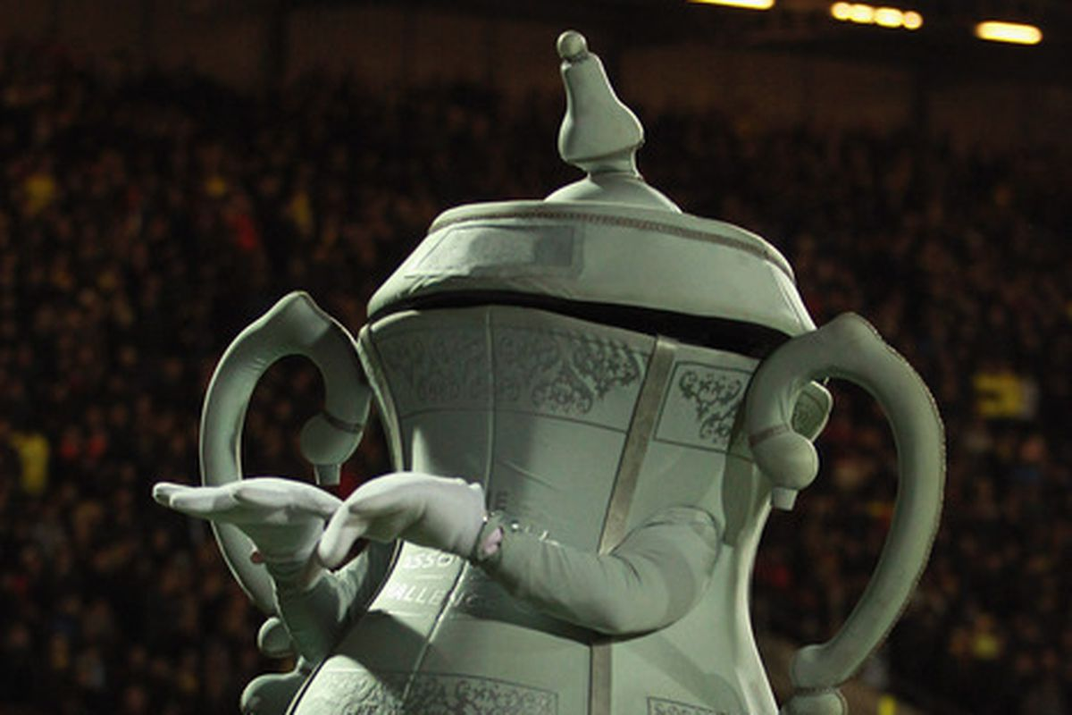 FA Cup Trophy Mascot Guy would like to see the return of Wednesbury Old Athletic, if only so Villa can smash them again.