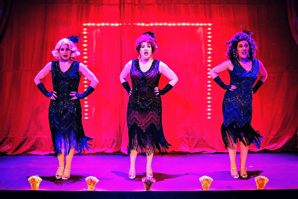 """Britt-Marie Sivertsen (from left), Melissa Young and Steph Vondell are burlesque performers in """"The Nance,"""" a play-with-music at the Pride Arts Center through July 30. 