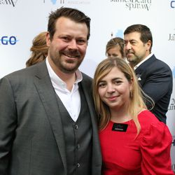 Chefs David and Anna Posey on the James Beard Award Red Carpet. | Brian Rich/Sun-Times