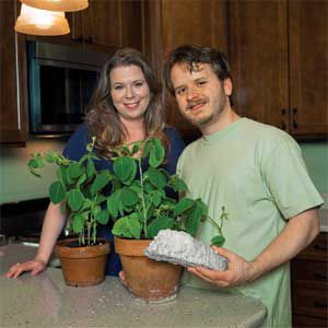<p>Soy-based spray-foam insulation in their kitchen walls saves Jennifer and Jason LaFleur hundreds a year on their energy bills.</p>