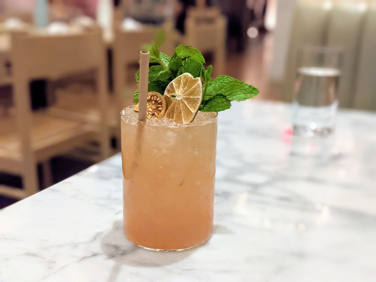 Eden cocktail at Cafe Fig in Downtown LA.