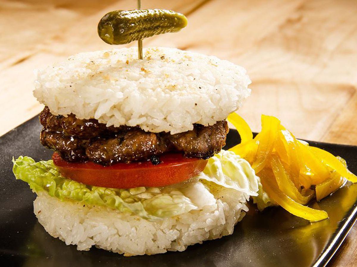 Who needs a bun when you have sticky rice patties?