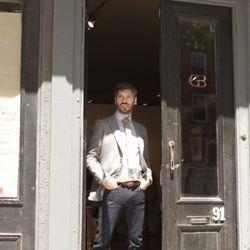 "David Alperin, owner of Brooklyn menswear boutique <a href=""http://goosebarnacle.com/"" rel=""nofollow"">Goose Barnacle</a>."