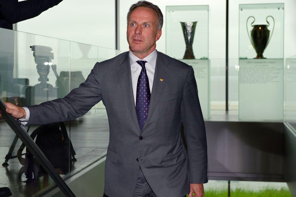Bayern Munich's chairman Karl-Heinz Rumm