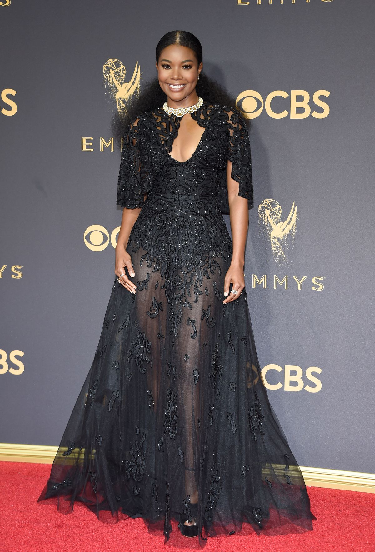 Gabrielle Union in Zuhair Murad at the 2017 Emmys.