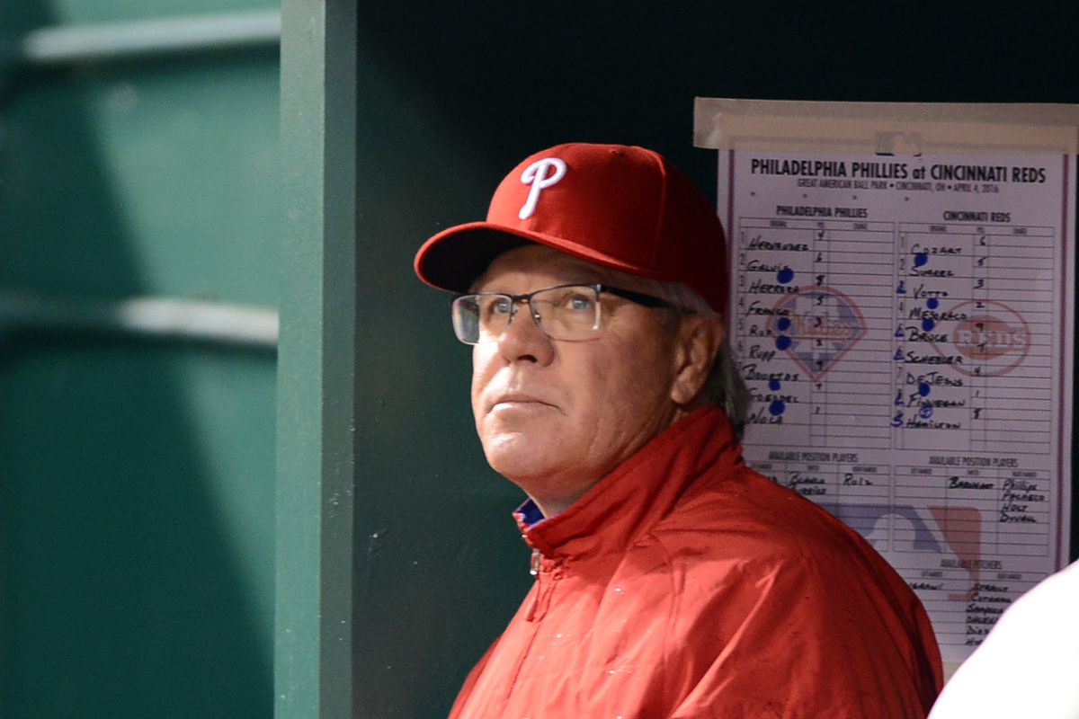 Phillies manager Pete Mackanin