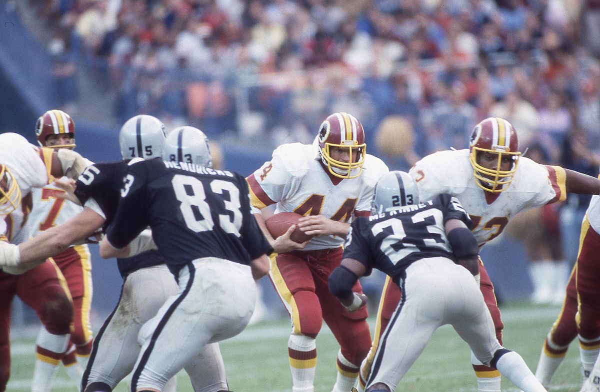 John Riggins ran behind an offensive line with an average weight of 273 pounds. This year, Washington's O-line averages 326 pounds. (GettyImages)