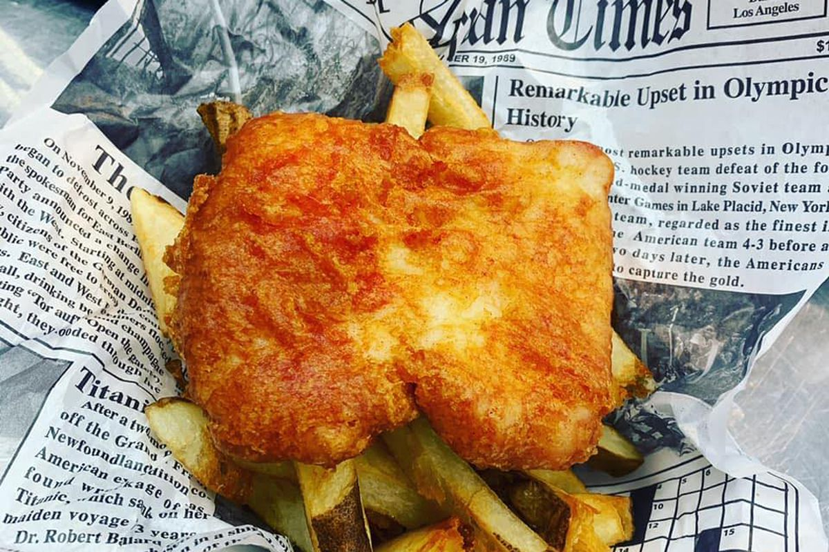 The fish & chips now being served at The Codfather in Henderson.