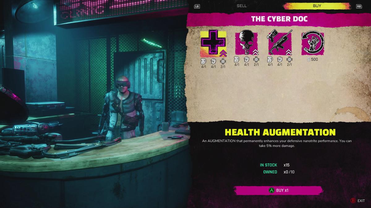 Rage 2 Cyber Doc Augmentations