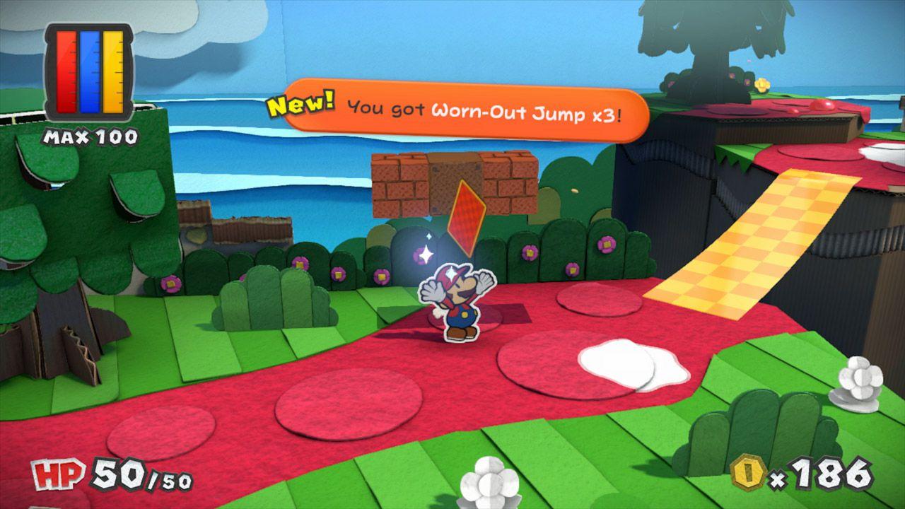 Paper Mario Color Splash review screens