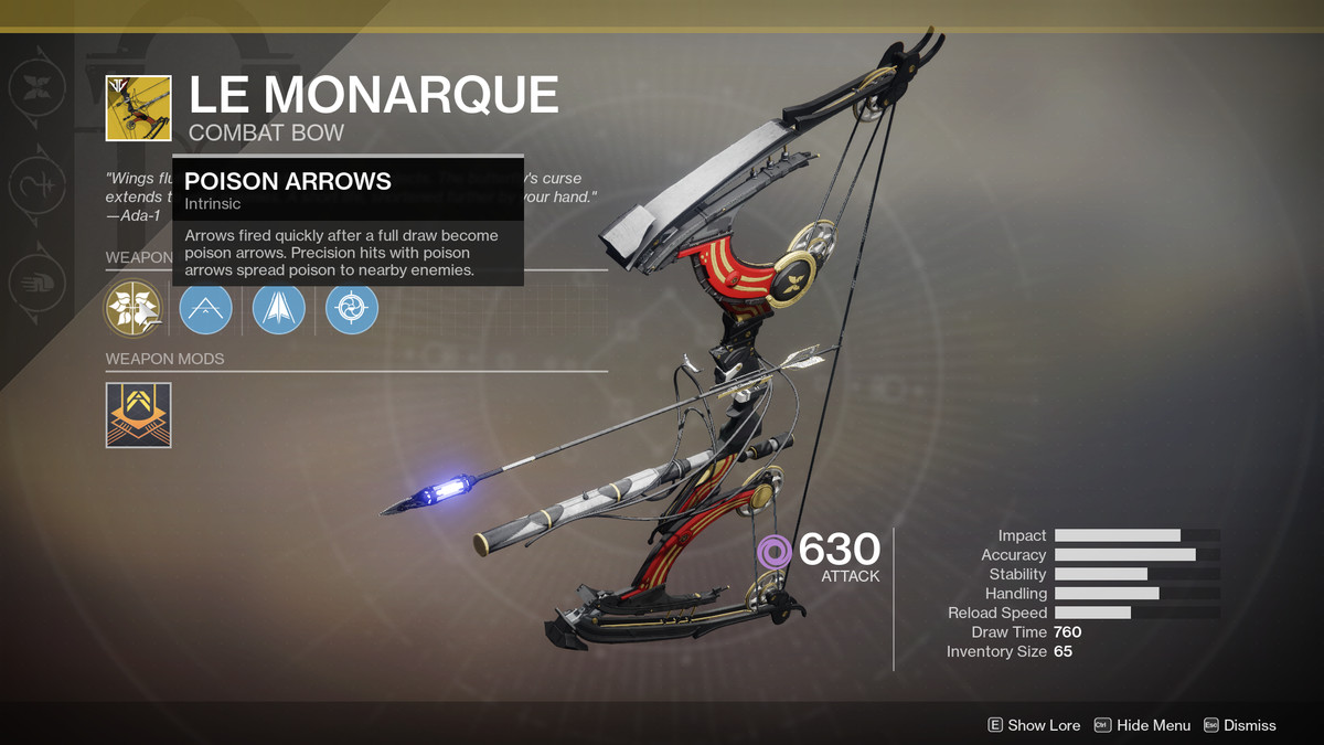 Le Monarque Exotic Destiny 2