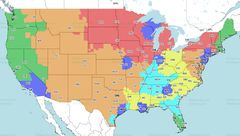 Los Angeles Map Png.La Rams Vs La Chargers Week 3 Broadcast Map Turf Show Times