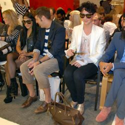 Johnny Weir, front row with Waris Ahluwalia at right.