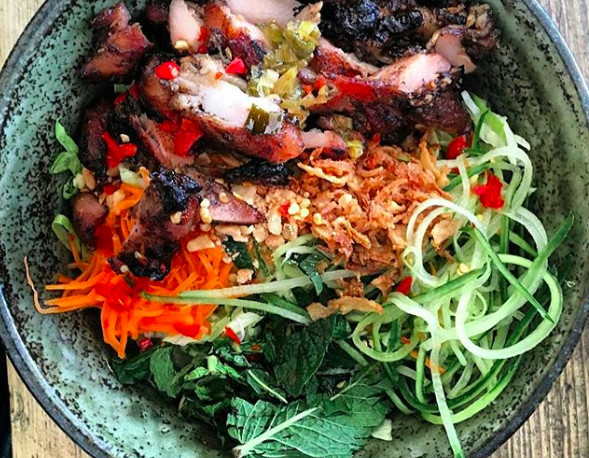 Salad at CoBa Restaurant, one of London's best Vietnamese restaurants
