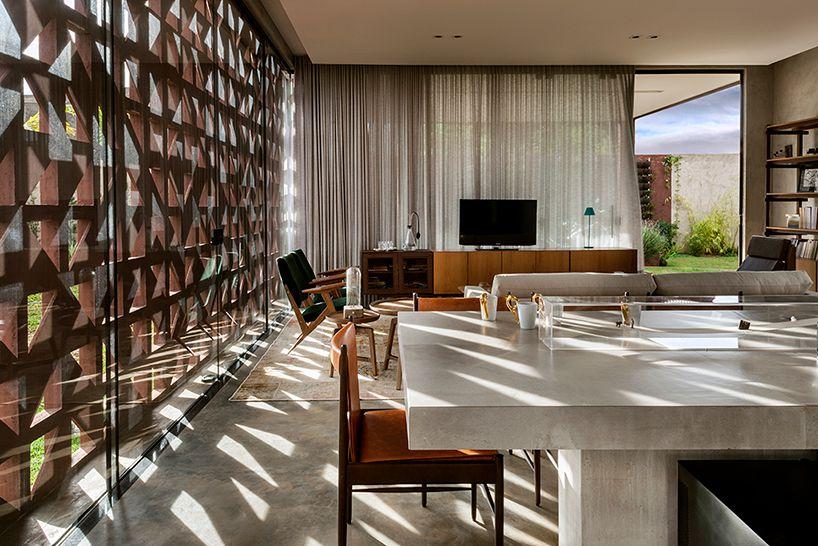 Modern home in Brazil dazzles with concrete block facade