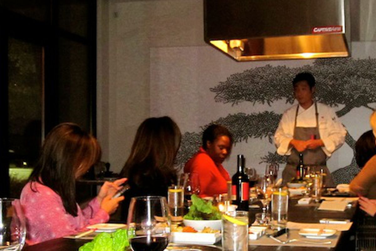 Chef Donald Chang in the grill room