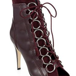 """Brian Atwood Adele Leather Lace-Up Ankle Boots, <a href=""""http://www.saksfifthavenue.com/main/ProductDetail.jsp?PRODUCT%3C%3Eprd_id=845524446606704&R=441998733073&P_name=Brian+Atwood&sid=1433CBBFDBB1&Ntt=bordeuax&N=0&bmUID=kcZdBoY"""">$627.90</a>, Saks Fifth"""