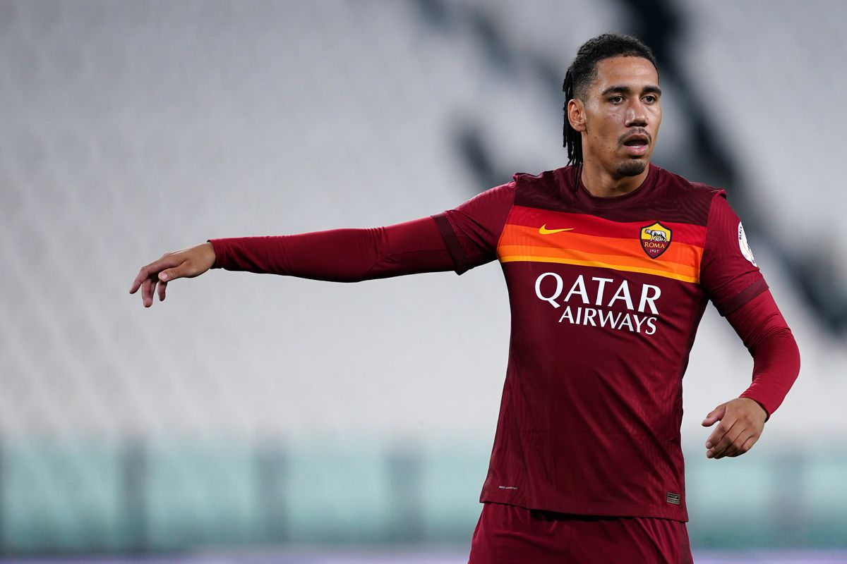 Chris Smalling of As Roma during the Serie A match between...