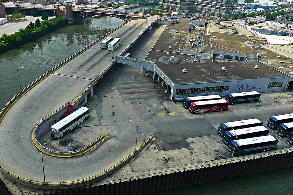Goose Island Greyhound maintenance facility could sell for
