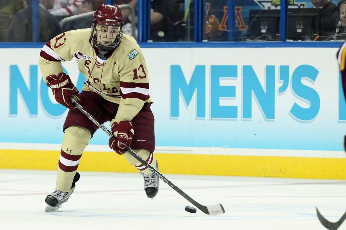 Boston College junior Johnny Gaudreau had seven points on the weekend.