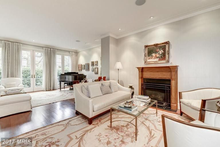 This 4 3m Cathedral Heights Home Offers A Pool Custom Designed Millwork Curbed Dc
