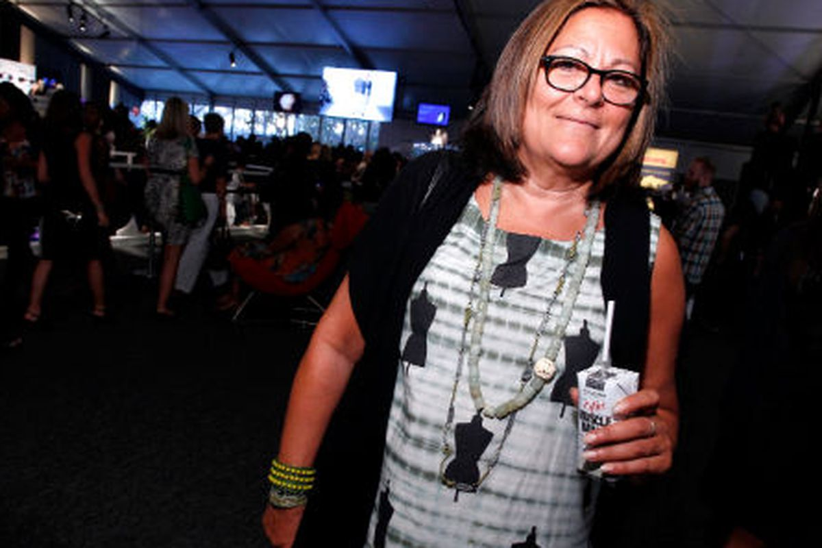 Fern Mallis at this year's Fashion Week, photo via Getty Images