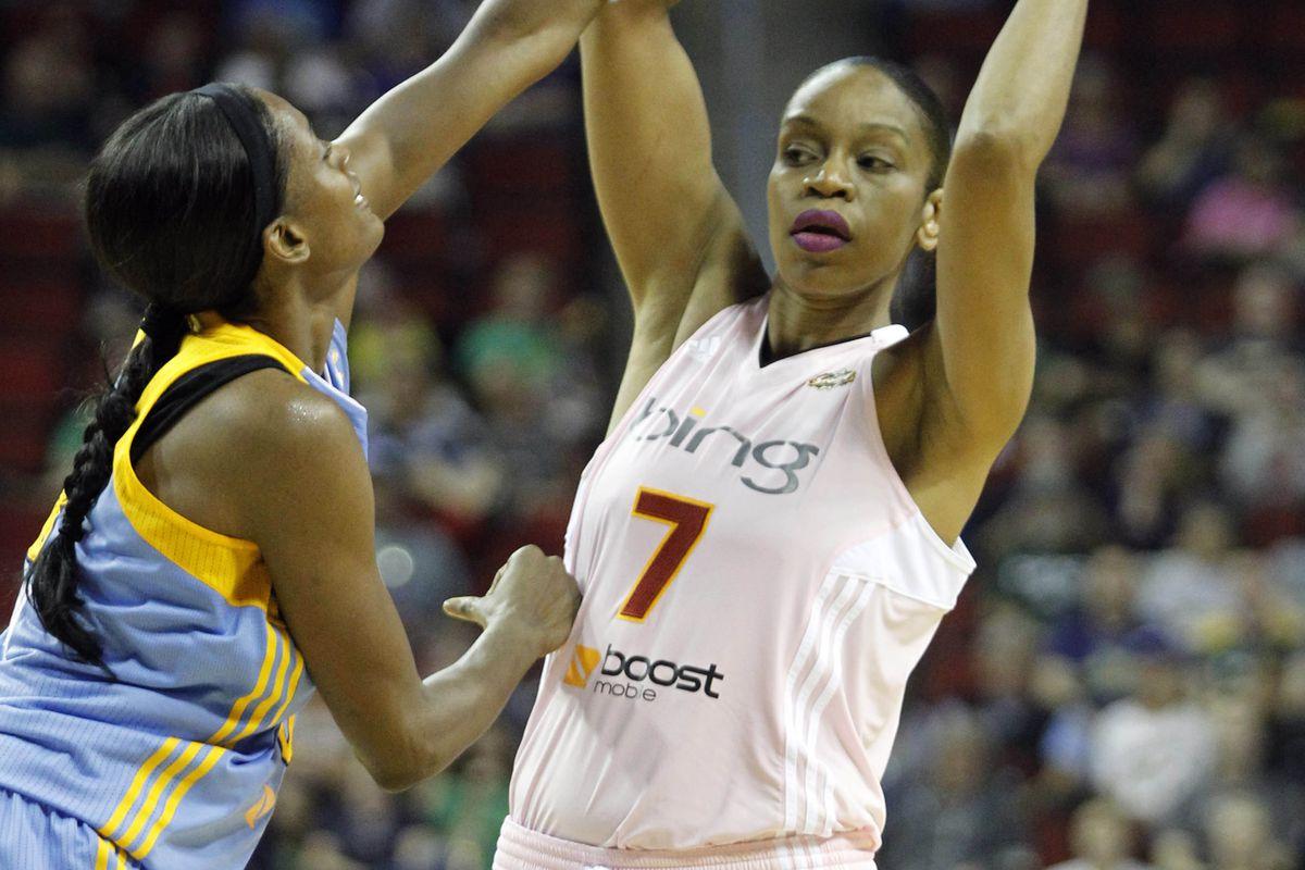Tina Thompson is averaging 12.5 points per game this season.