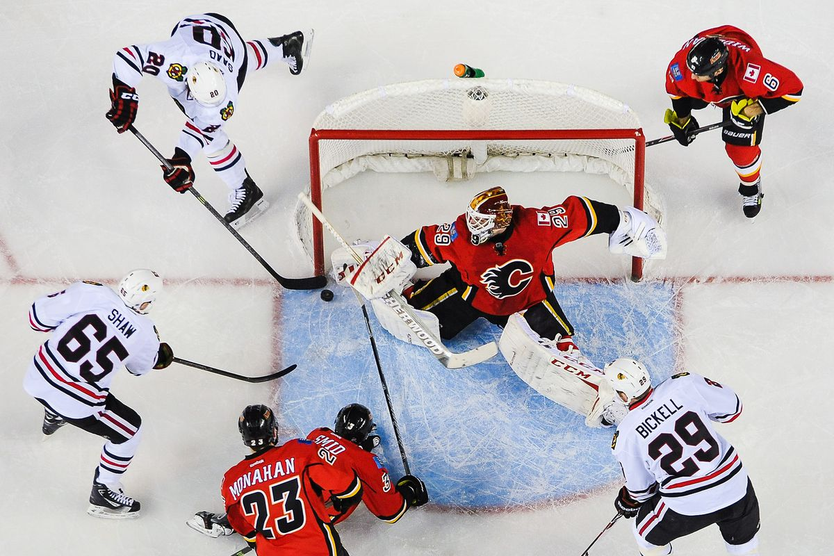 Reto Berra is no longer among us, but this is still a funny picture.