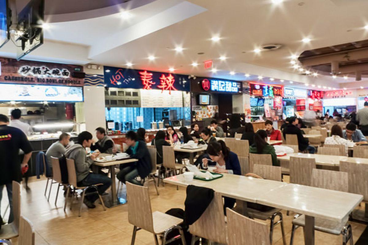 New World Mall Food Court, Flushing, NYC
