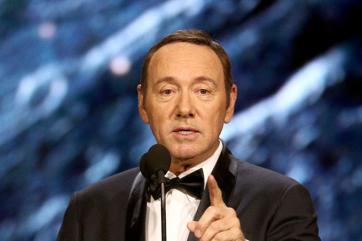 Kevin Spacey was found lying on my bed, a man tells Victoria Derbyshire
