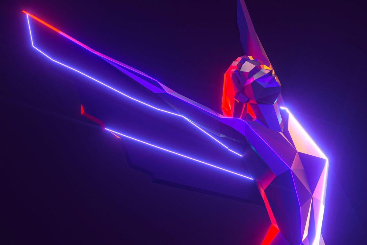 An illustration of the award trophy from The Game Awards 2019