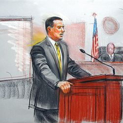 """Brian Mitchell""""™s defense attorney Parker Douglas makes opening arguments Monday."""