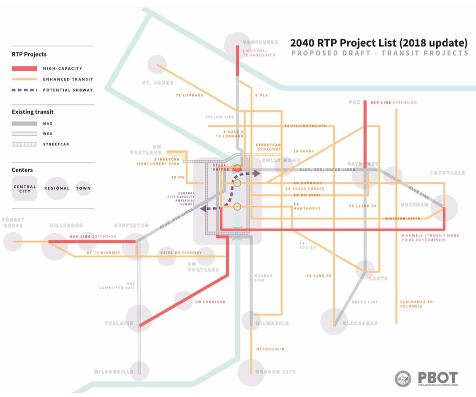 Hamptons Subway Map.Portland Considers Building A Subway For Downtown Curbed