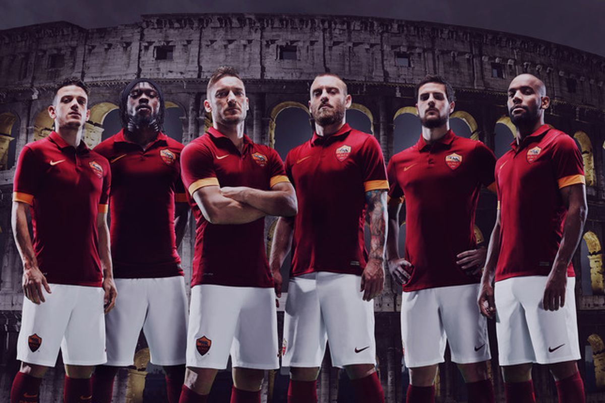 new concept b1bd2 9af28 Nike unveil classy first effort for AS Roma 2014 15 home kit