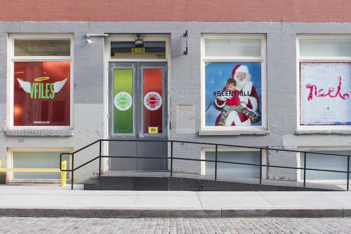 The VFiles holiday windows, courtesy of the brand